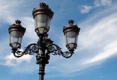 фасонируемое масло светильника старая улица Стоковое Изображение