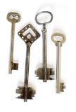 фасонируемые ключи старый скелет Стоковое фото RF