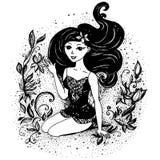 фасонируйте девушку подростковую также вектор иллюстрации притяжки corel бесплатная иллюстрация