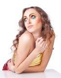 Фасонируйте модель женщины с ярким составом Стоковая Фотография RF