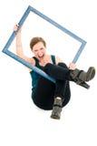 Фасонируйте портрет здоровой, активной, привлекательной молодой женщины Стоковое фото RF