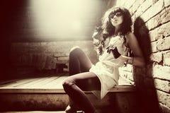 Фасонируйте портрет красивой молодой сексуальной женщины Стоковые Изображения RF