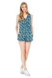 Фасонируйте фото молодой пышной женщины нося модные одежды лета Стоковая Фотография