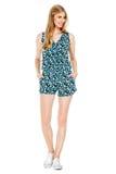 Фасонируйте фото молодой пышной женщины нося модные одежды лета Стоковые Фото