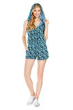Фасонируйте фото молодой пышной женщины нося модные одежды лета Стоковое Изображение RF