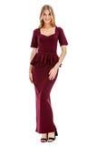 Фасонируйте фото молодой пышной женщины нося модные одежды лета Стоковые Изображения