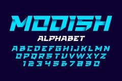 Фасонистый, ультрамодный алфавит стиля Стоковое Фото