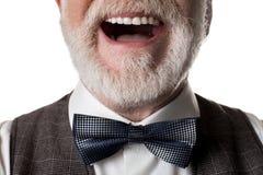 Фасонистый oldster нося модное bowtie стоковая фотография rf