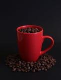 Фасоли 2 чашки кофе Стоковые Фотографии RF
