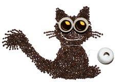 Фасоли offee ¡ Ð и чашки кофе пары Стоковое Изображение RF