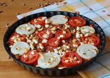 Фасоли Rosted с луком, картошкой и сыром Стоковое фото RF