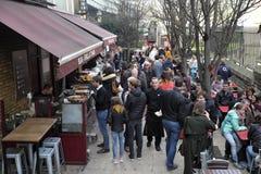 Фаст-фуд сервировки ресторана в Southwark, Лондоне, Великобритании Стоковое Изображение