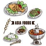 Фаст-фуд Азия возражает b Стоковая Фотография