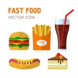 Фаст-фуд ест Стоковое фото RF