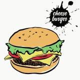 Фаст-фуд Cheeseburger бесплатная иллюстрация