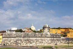 Фальшборт Сантьяго в Cartagena de Indias стоковая фотография