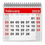 Февраль 2019 бесплатная иллюстрация