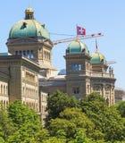 Федеральное здание дворца в Bern, Швейцарии стоковое изображение