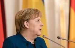 Федеральный канцлер Федеративной республики Германии Анджела Mer стоковая фотография rf