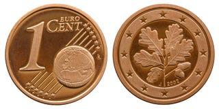 Федеративная республика Германии 1 цент 2001 стоковая фотография