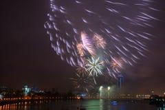 феиэрверки города сверх Стоковая Фотография RF