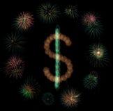феиэрверки доллара Стоковое Фото