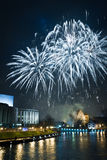 Феиэрверки и Новогодняя ночь Стоковая Фотография RF