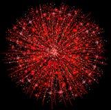 феиэрверки красные бесплатная иллюстрация