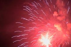 феиэрверки красные Стоковые Фотографии RF