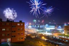 Феиэрверки показывают на Новый Год Eve стоковое изображение rf