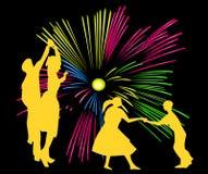 феиэрверки танцы Стоковое Фото