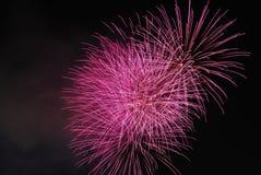 феиэрверки торжества достижения знаменующ Стоковые Фото