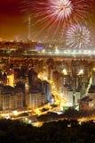 феиэрверки taipei города стоковое изображение