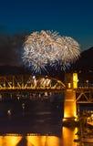 Фейерверки Ванкувера Стоковое Изображение RF