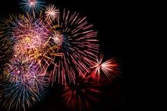 Фейерверки взрывая Стоковая Фотография RF