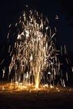 Фейерверки в дне ночи Стоковое Изображение RF