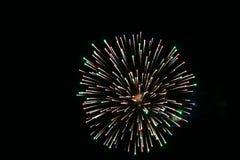 Фейерверки дня Канады в небе 11 Стоковые Фото