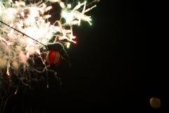 Фейерверки и фонарик Стоковые Фотографии RF
