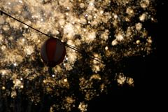Фейерверки и фонарик Стоковое Изображение RF