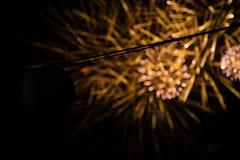 Фейерверки и фонарик Стоковое Фото