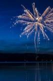 Фейерверки на воде Стоковая Фотография RF
