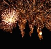 Фейерверки на ноче Стоковая Фотография RF