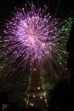 Фейерверки на 14-ое июля в Франции стоковое изображение