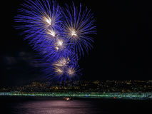 Фейерверки на торжествах 14-ое июля дня в славном стоковое изображение rf