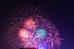 Фейерверки на Ханое Стоковая Фотография RF