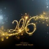 Фейерверки Нового Года 2016 Стоковое Фото