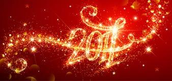 Фейерверки Нового Года 2017 иллюстрация вектора