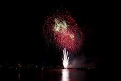 Фейерверки ночи Стоковое фото RF