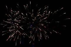 Фейерверки ночное небо Стоковое Фото
