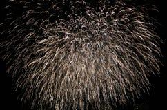 Фейерверки освещают вверх небо с ослеплять дисплеем стоковые фото